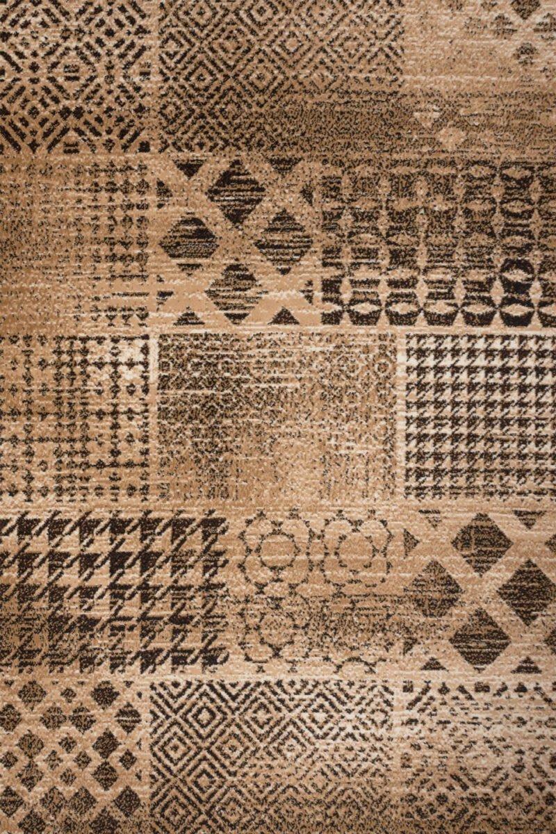 Covor Practica A3BDB maro dreptunghiular 150 x 225 cm - ProConfortCarpet